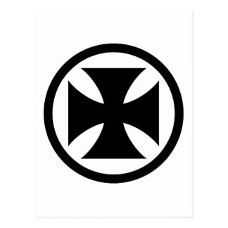Cross in Circle monochrome Postcard