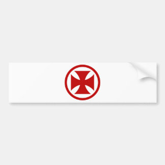 Cross in Circle red Bumper Sticker