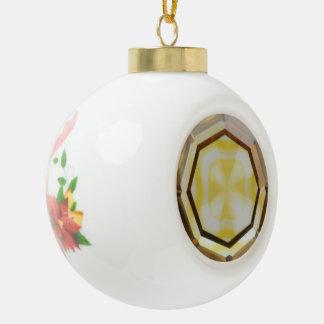 Cross in Diamond™ Ceramic Ball Ornament