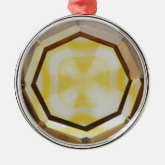 Cross in Diamond™ Ceramic Ornament with red Ribbon