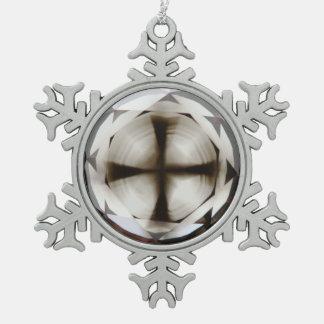 Cross in Diamond™ Snowflake framed Cross Ornament