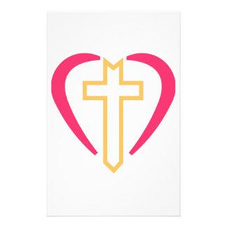 Cross In Heart Stationery