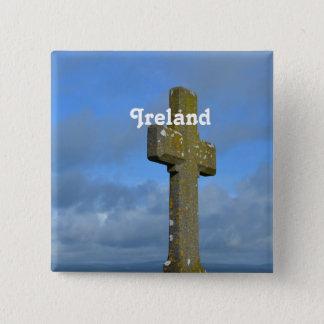 Cross in Ireland Button