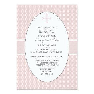 Cross in Oval Frame - Blush Card