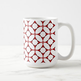 Cross in Red Tiled Mug