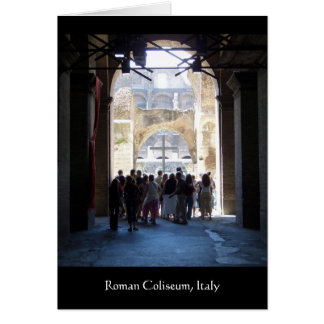 Cross in Roman Coliseum Italy Greeting Cards