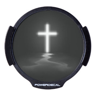 Cross in the Mist LED Car Decal