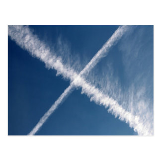 Cross in the sky postcard