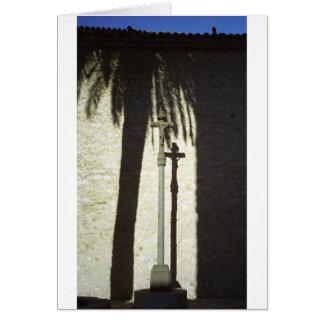 Cross in the sun card
