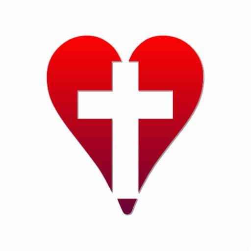 cross inside red heart photo cutouts zazzle