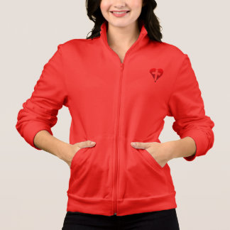 Cross inside red Heart Printed Jackets