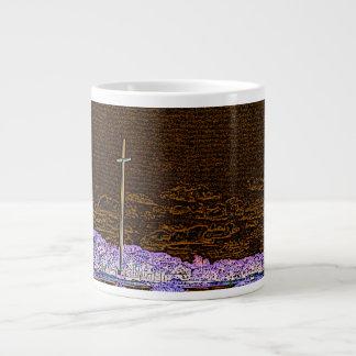 cross invert st augustine sketch landscape 20 oz large ceramic coffee mug