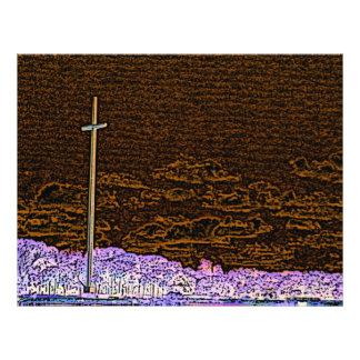 "cross invert st augustine sketch landscape 8.5"" x 11"" flyer"