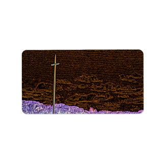 cross invert st augustine sketch landscape address label