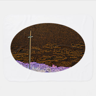 cross invert st augustine sketch landscape baby blankets