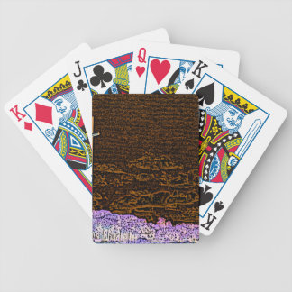 cross invert st augustine sketch landscape bicycle playing cards