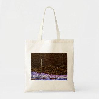 cross invert st augustine sketch landscape budget tote bag