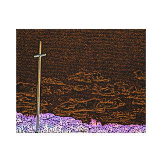 cross invert st augustine sketch landscape canvas print