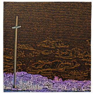 cross invert st augustine sketch landscape cloth napkins