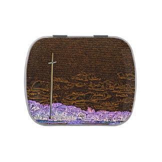 cross invert st augustine sketch landscape jelly belly candy tin