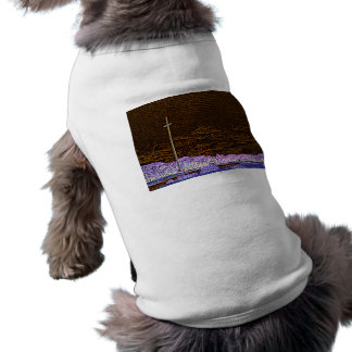 cross invert st augustine sketch landscape pet tshirt