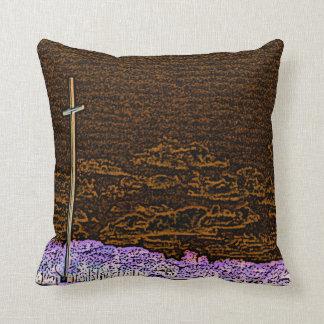 cross invert st augustine sketch landscape pillow