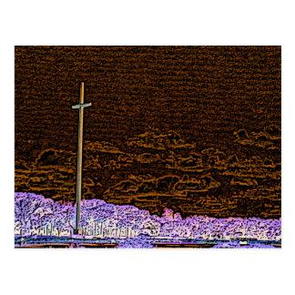 cross invert st augustine sketch landscape postcard