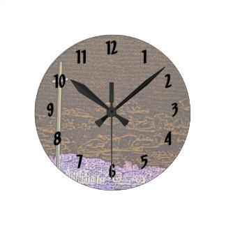 cross invert st augustine sketch landscape round wall clock