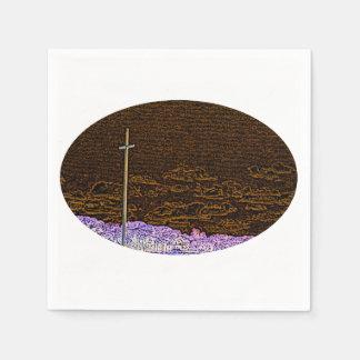 cross invert st augustine sketch landscape standard cocktail napkin