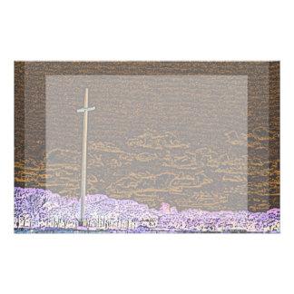 cross invert st augustine sketch landscape stationery