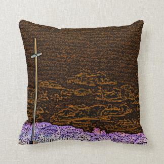 cross invert st augustine sketch landscape throw pillows
