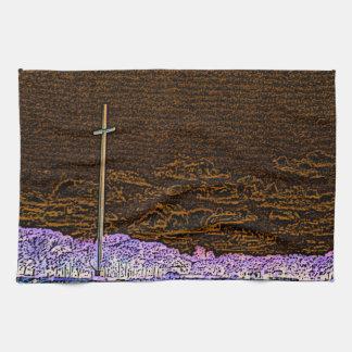 cross invert st augustine sketch landscape towels