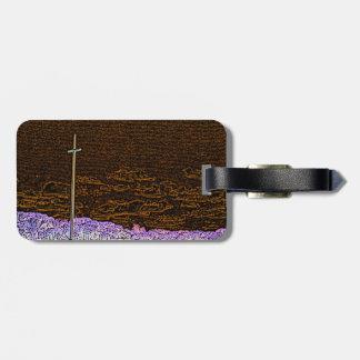 cross invert st augustine sketch landscape travel bag tag