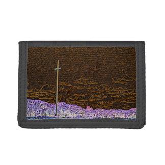 cross invert st augustine sketch landscape tri-fold wallet