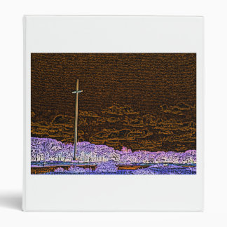 cross invert st augustine sketch landscape vinyl binders