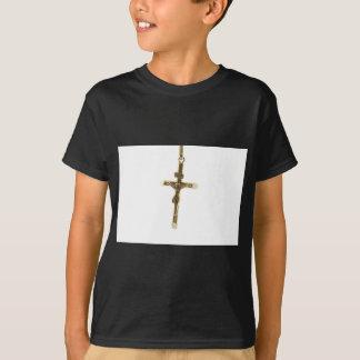 Cross Jesus Christ gold horizontal T-Shirt