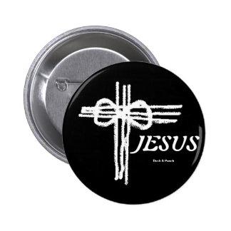 Cross/JESUS eterno Pin Redondo De 2 Pulgadas