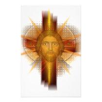Cross Jesus Face Stationery