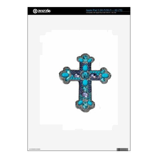 Cross jeweled skin for iPad 3