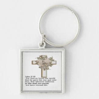 cross john 3: 16 keychain