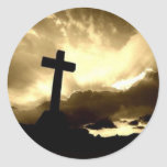 Cross.jpg Pegatina Redonda