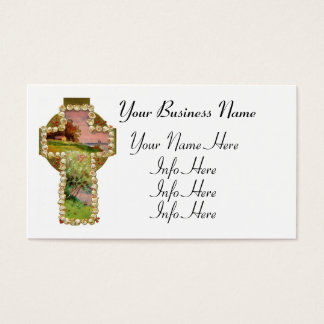 Cross Landscape Painting Business Card