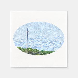 cross landscape sketch st augustine florida paper napkin