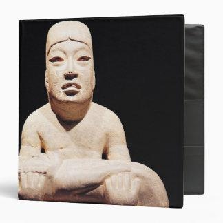Cross-legged figure holding a baby, Olmec 3 Ring Binder
