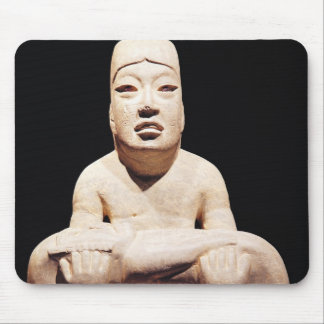 Cross-legged figure holding a baby, Olmec Mouse Pad