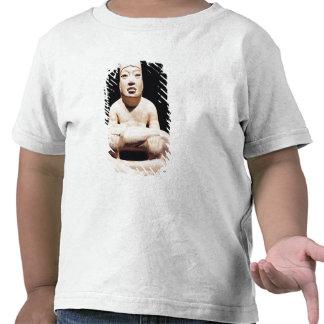 Cross-legged figure holding a baby, Olmec Tees