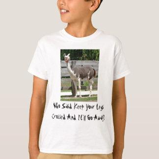 Cross-Legged Llama Kid's T-Shirt