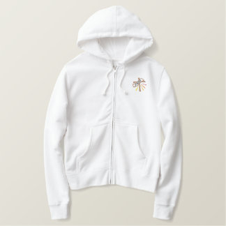Cross - lent: Croce - quaresima Embroidered Hoodie