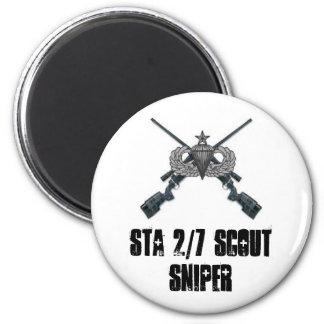 Cross M40-A3, STA 2/7 SCOUT SNIPER 2 Inch Round Magnet