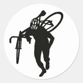 Cross Man Classic Round Sticker